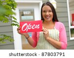 """small business owner with """"open""""... 