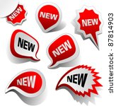 new vector labels. graphic... | Shutterstock .eps vector #87814903