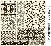 arabesque designs | Shutterstock .eps vector #87816247