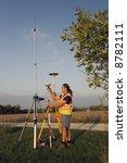 land surveyor with gps unit. | Shutterstock . vector #8782111