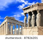 Caryatids  Erechtheion Temple...