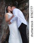 groom kissing bride | Shutterstock . vector #8782777