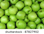 Green Apple Background  Shallo...