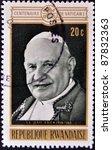 rwanda   circa 1970  a stamp... | Shutterstock . vector #87832363