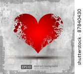 graphic grunge heart  ink... | Shutterstock .eps vector #87840430