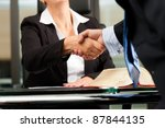 mature female lawyer or notary... | Shutterstock . vector #87844135