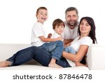 young parents with children at... | Shutterstock . vector #87846478