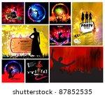 set of music illustrations | Shutterstock .eps vector #87852535