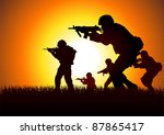 silhouette illustration of a...
