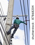 An Electrical Worker  On...