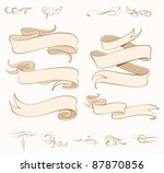 vector ribbons set   design... | Shutterstock .eps vector #87870856