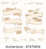 vector ribbons set   design... | Shutterstock .eps vector #87870856