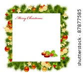 christmas card background. | Shutterstock . vector #87877585