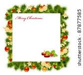 christmas card background.   Shutterstock . vector #87877585