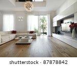 internal view of a modern... | Shutterstock . vector #87878842