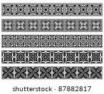 set of five vector art deco... | Shutterstock .eps vector #87882817