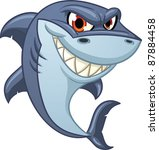 cool cartoon shark. vector...