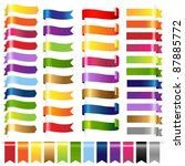 color set web ribbons  isolated ... | Shutterstock . vector #87885772
