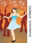 illustration of lady dancing... | Shutterstock . vector #8788693