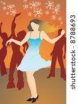 illustration of lady dancing... | Shutterstock . vector #8788693