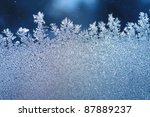 the patterns made by the frost... | Shutterstock . vector #87889237