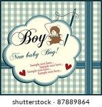 baby boy invitation | Shutterstock .eps vector #87889864