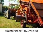 Historical Farm Machine On The...