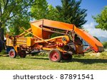 Historical Farm Machine On The...