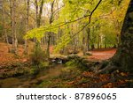 small river at the portuguese... | Shutterstock . vector #87896065