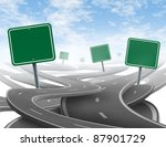 confused strategy and dilemma... | Shutterstock . vector #87901729