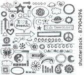 sketchy notebook doodles set of ... | Shutterstock .eps vector #87904396