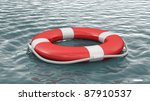 Life Buoy On Water