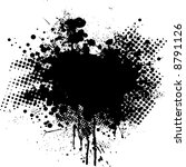 ink splat overlayed by halftone ... | Shutterstock .eps vector #8791126