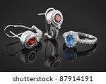 Jewelry Set With Diamonds On...