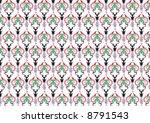 ottoman style wallpaper pattern ... | Shutterstock .eps vector #8791543
