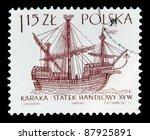 poland   circa 1963  a stamp... | Shutterstock . vector #87925891