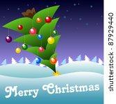 christmas card | Shutterstock .eps vector #87929440