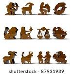 horoscope zodiac signs 3d... | Shutterstock . vector #87931939