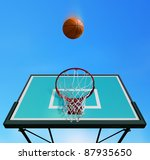 basketball board on sky... | Shutterstock . vector #87935650