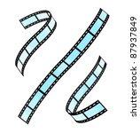 film strip set | Shutterstock .eps vector #87937849