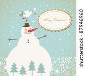 christmas card | Shutterstock .eps vector #87946960