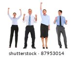 businessmen and businesswomen... | Shutterstock . vector #87953014