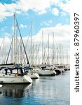 Many Luxury Yachts Parked In A...