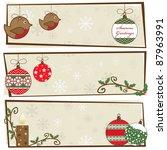 festive christmas snowflake... | Shutterstock .eps vector #87963991