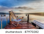 chair sitting at the end of a... | Shutterstock . vector #87970282