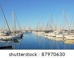 italy  ravenna marina boats in... | Shutterstock . vector #87970630