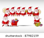 cartoon xmas card | Shutterstock .eps vector #87982159