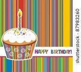 first birthday card.... | Shutterstock . vector #87983260
