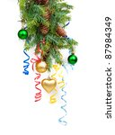 christmas concept with baubles... | Shutterstock . vector #87984349