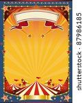 nice poster with big top. a new ... | Shutterstock . vector #87986185
